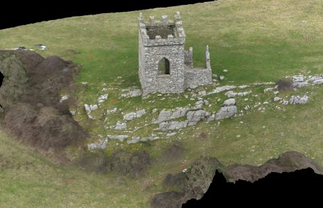 Oblique overhead view of Kirkhead Tower 3