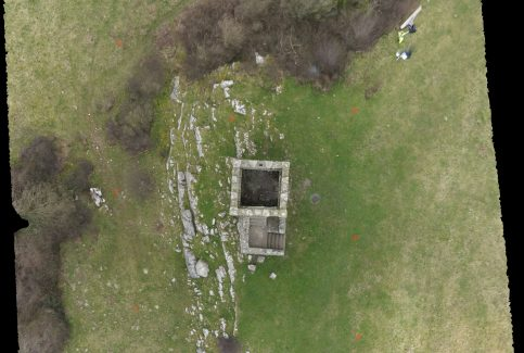 Overhead view of Kirkhead Tower 1