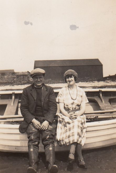 Cockersands Lighthouse Keepers Thomas and Beatrice Parkinson at Cockerham Sands | Bob Parkinson
