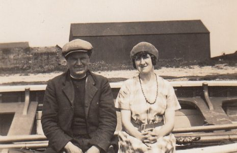 Cockersands Lighthouse Keepers Thomas and Beatrice Parkinson at Cockerham Sands