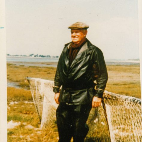 Cockersands Lighthouse Keeper Thomas Parkinson on his last fishing trip before retiring