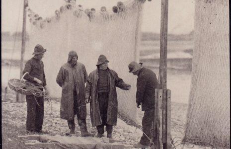 Fishermen Bert Smith, Arnold Townley, Hubert Townley and  Tom Smith