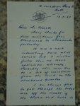 Letter to Charlie Overett from Gerald Forsberg