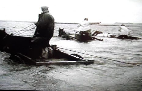 Shrimpers in River Leven channel in 1963