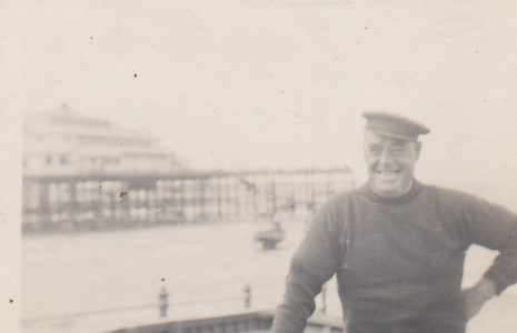 John Baxter with his fishing boat near Central Pier, Morecambe