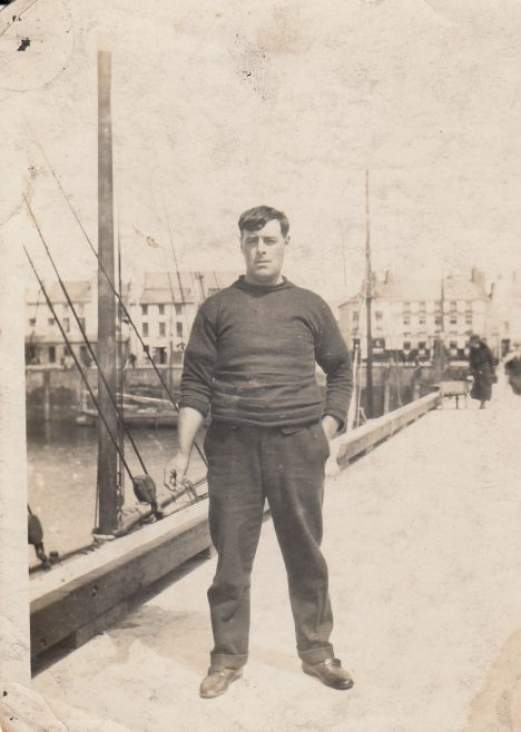 John Baxter standing on a pier at Morecambe | Baxter Family