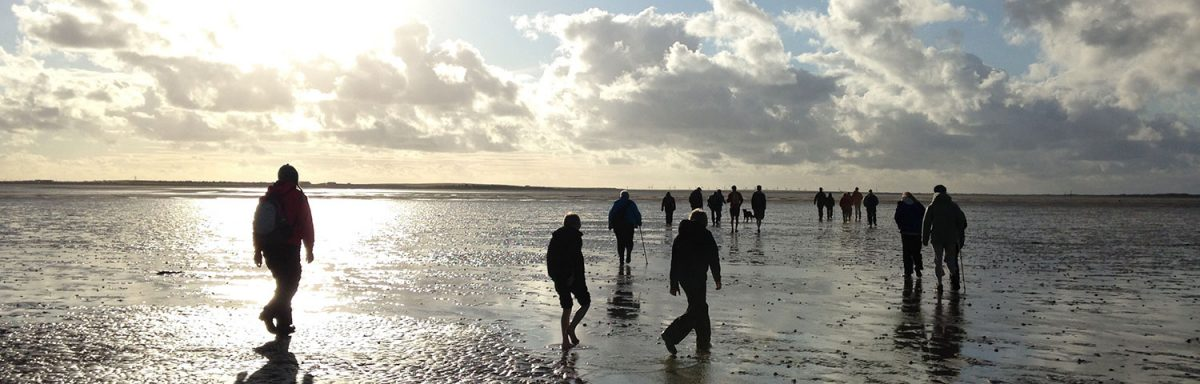 Walking the sands to Piel Island