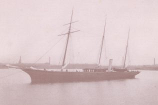 Steam yacht Aries built for Sir James Ramsden (BLC/200/PB/ARI)  | Copyright: Cumbria Archive and Local Studies Centre, Barrow-in-Furnes