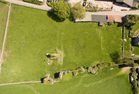 Aerial photograph of Gleaston Castle 1