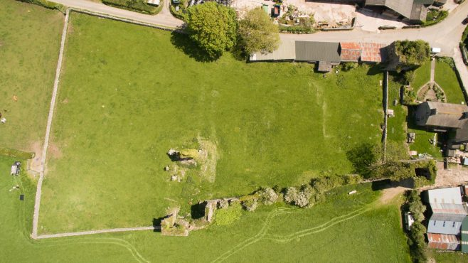 Aerial photograph of Gleaston Castle 1 | Morecambe Bay Partnership