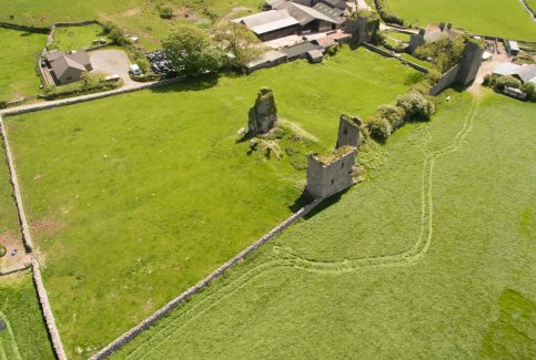 Aerial photograph of Gleaston Castle 2