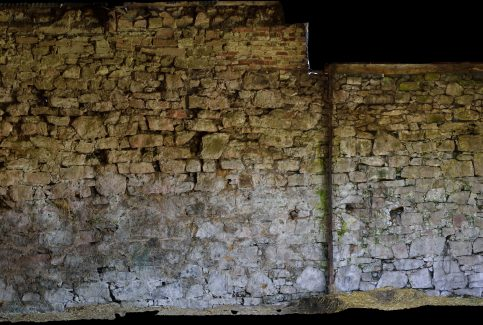 External lower wall, Gleaston Castle