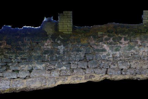 External upper wall, Gleaston Castle