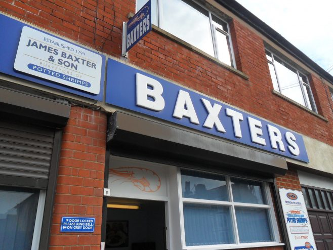 Photo of James Baxter & Son fish shop front in Morecambe.