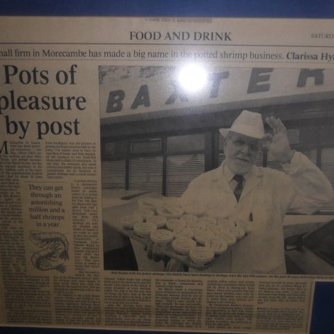 """Photo of newspaper article entitled """"Pots of pleasure by post""""."""