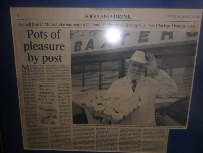 "Photo of newspaper article entitled ""Pots of pleasure by post""."