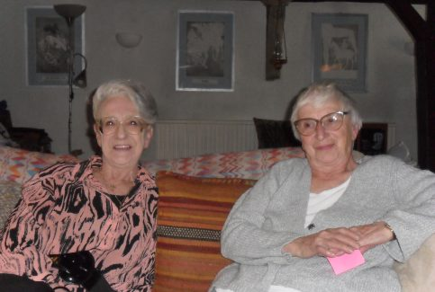 Photograph of Barbara Dawe and Jean Dennis, interviewees for oral history project.