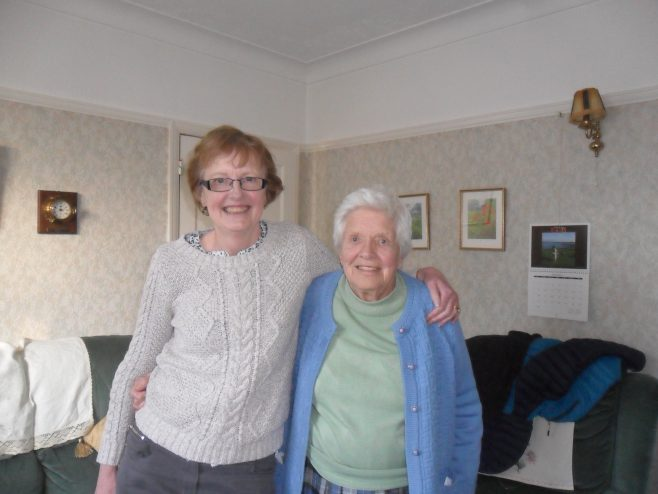Photograph of Eileen Baxter and Helen Graham, interviewees for oral history project.