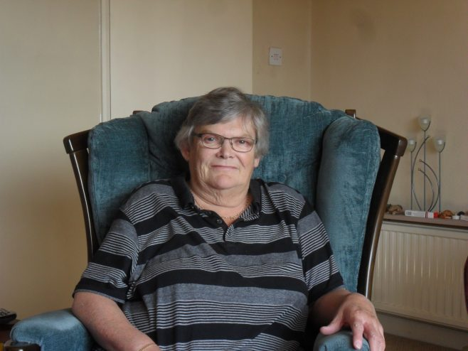 Photograph of Hilda Burrow, interviewee for oral history project.
