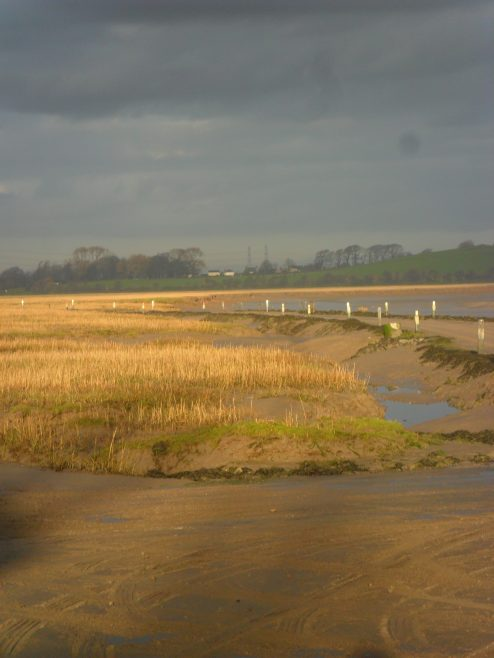 View of tidal road to Sunderland Point .