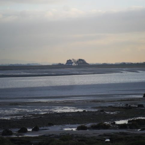 The Lune estuary at dusk from Sunderland Point.