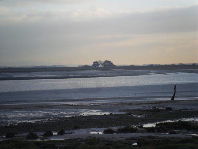The Lune estuary at dusk from Sunderland Point.