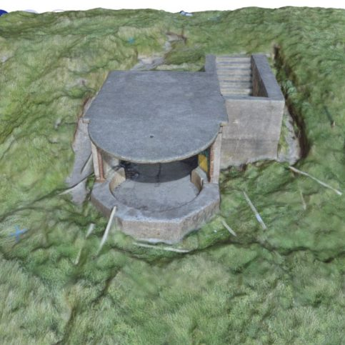 3D model of World War II Searchlight Emplacement, Walney Island