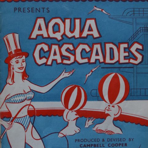 Programme for Aqua Cascades Water Show of 1961