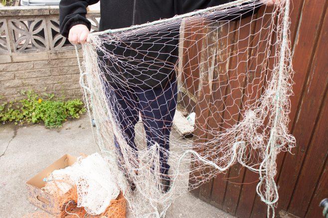 Model of a trammel fishing net | Malcolm Sole