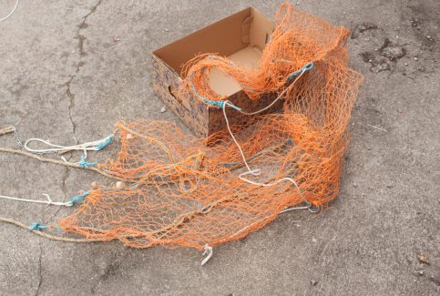 Model of a trawl net 2.