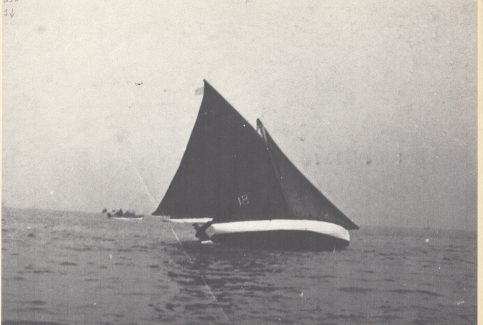Mussel boats sailing in the Morecambe Regatta 1.