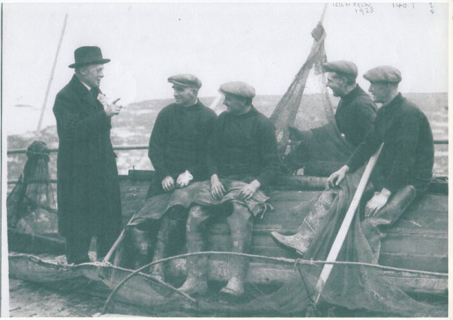 Mussel fishermen being canvassed for their vote on Kilbrow | Keith Willacy collection