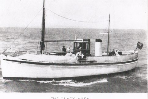 """Pleasure launch """"Lady Ailsa"""", owned by W.W. (Billy) Hogarth, operating from the Stone Jetty"""