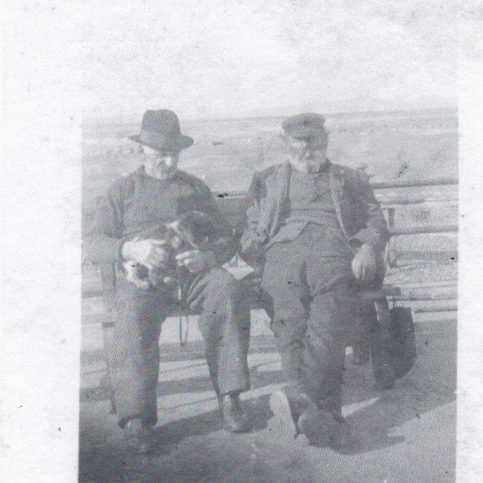 Portrait of two old salts, David Willacy and William (Black Duck) Woodhouse | Keith Willacy collection