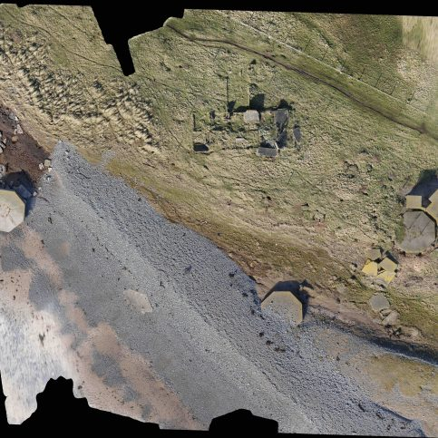 Aerial View of Coastal Battery, South Walney