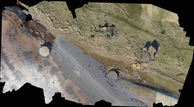 Aerial View of Coastal Battery, South Walney | Oxford Archaeology North