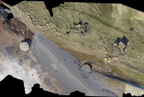 Aerial View of Coastal Battery, South Walney (2D)