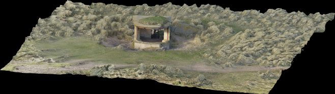 Oblique view of Hilpsford Searchlight, South Walney | Morecambe Bay Partnership