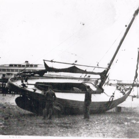 Linda on the inside moorings to the north of Central Pier, Morecambe | Keith Willacy collection