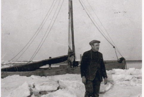 Walter Raby standing on the ice