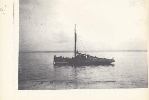 "Fishing boat ""Jane"" on moorings off Green Street, Morecambe."