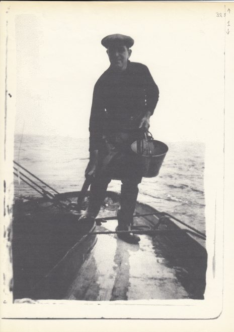 A Morecambe Bay fisherman on his boat | Keith Willacy collection