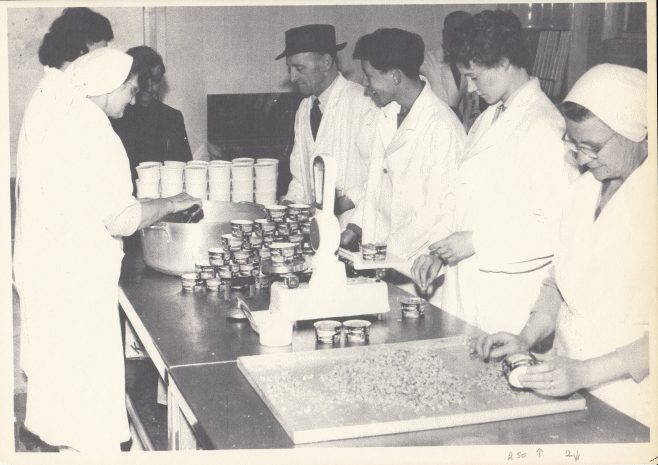 Packing shrimps at Morecambe Bay Fishermens Co-operative | Keith Willacy collection