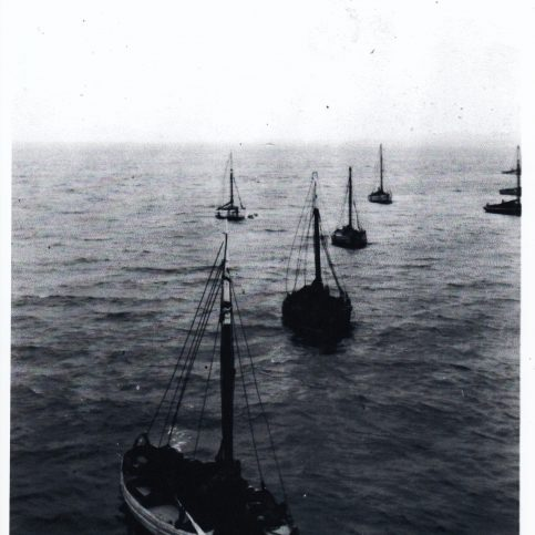 Fishing boats at their moorings east of Central Pier, Morecambe