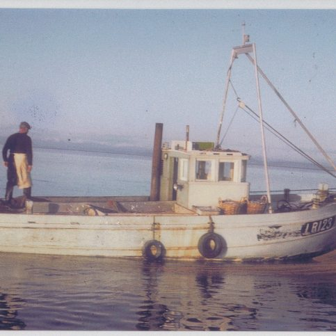 """""""Girl Helen"""" LR 123, the first new boat built for Morecambe since 1935"""