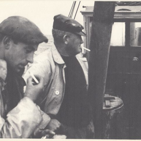 Keith Willacy and Sam (Gut Sam) Baxter aboard
