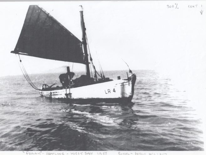 Fanny LR 4, hauling her nets in the Black Buoy Hollow | Keith Willacy collection