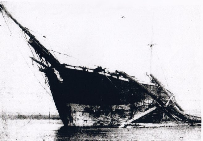 The wreck of the barque