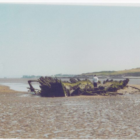 "The remains of the barque ""Vanadis"" in Half Moon Bay, Heysham"