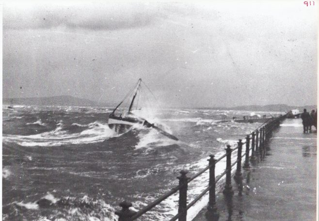 A Morecambe fishing boat riding out a storm | Keith Willacy collection